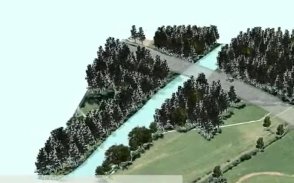 Simulation eines Straßenneubaus
